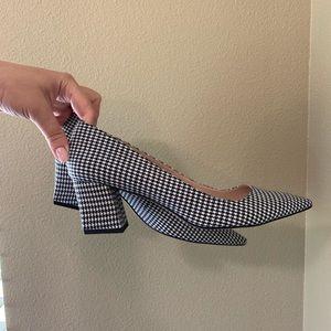Zara women's shoes black and white size 41